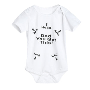Girls/Boys Dad You Got This Romper