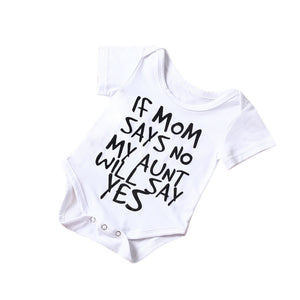 Boys/Girls My Aunt Will Say Yes Romper