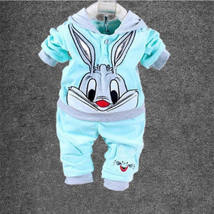 Girls Bugs Bunny Long Sleeve Top + Pants Set