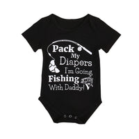 Boys I'm going Fishing Romper