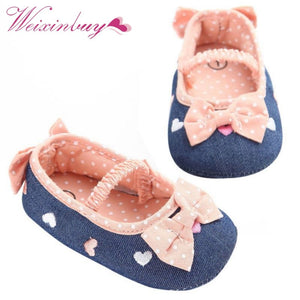 0-18M Soft Soled Girls First Walkers