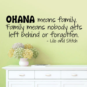 Ohana Means Family Wall Sticker