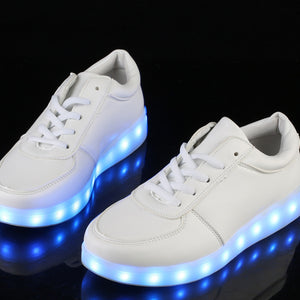 Boys/Girls Led Sneakers 7 Colors USB Charge