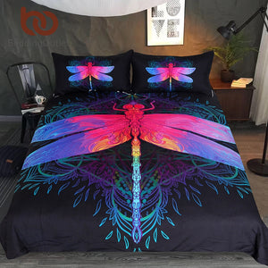 Dragonfly Bedding Set 3pcs Duvert Cover + Pillowcases