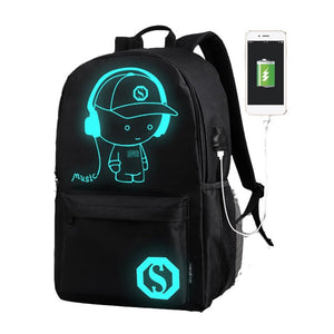 Luminous Animation USB Charge Backpack