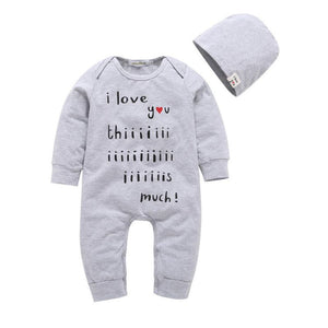 Boy Girl Long Sleeve Jumpsuit + Hat