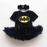 Baby Girl Batman Dress + Headband 2 pcs Set