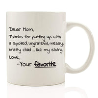 Dear Mom From Your Favorite Mug with Spoon