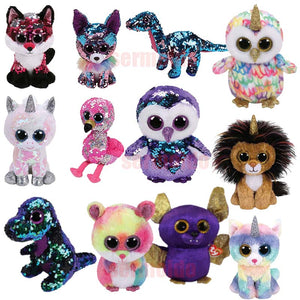 15cm Sequined Bright Eyes Plush Toy 41 Designs