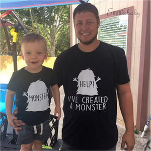Father Son Matching Monster Shirt