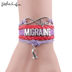 Infinity Hope Migraine Awareness Bracelet