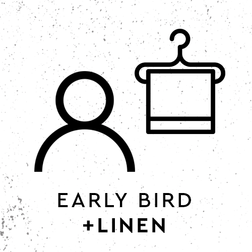 Early Bird Registration inc. Linen Pack
