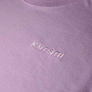 S/S Logo Embroidery T-shirt Purple