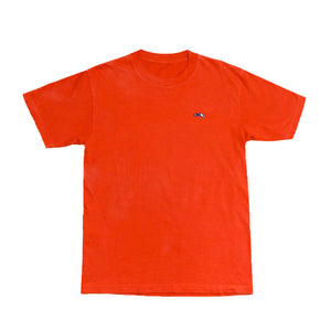 Small Logo Garment Dye Crew Neck T-shirt (Orange)