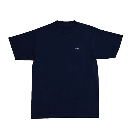 Small Logo Garment Dye Crew Neck T-shirt (Navy)