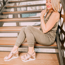 OTBT - WAVEY in GOLD Wedge Sandals