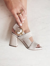 NAKED FEET - TORINO in CHAMOIS Heeled Sandals
