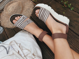 OTBT - MONTAUK in TAPIOCA Wedge Sandals