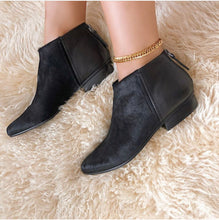 NAKED FEET - CHI in BLACK COMBO Ankle Boots