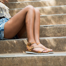 MADELINE - AS IF in NEW TAN Flat Sandals