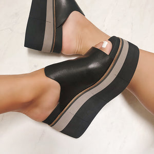 NAKED FEET - FLOW in BLACK Heeled Sandals