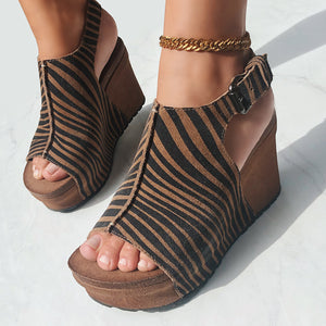 OTBT - JAUNT in TAN Wedge Sandals