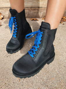 OTBT - COMMANDER in BLACK Mid-Shaft Boots