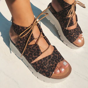 OTBT - CALIFORNIA in LEOPARD PRINT Wedge Sandals