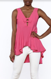 Hot Pink Peplum Top