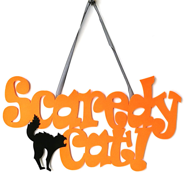 Scaredy Cat Hanging Wall Door
