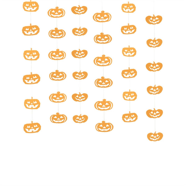 Pumpkin Shape Paper Garlands Hanging