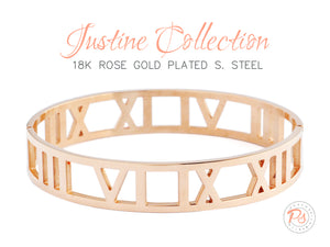 Rose Gold Justine Bangle