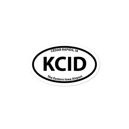 KCID / CID - The Eastern Iowa Airport - Sticker