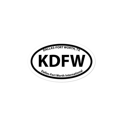 KDFW / DFW - Dallas-Ft. Worth - Sticker