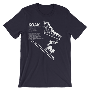 KOAK / OAK - Metropolitan Oakland International - Unisex short sleeve t-shirt