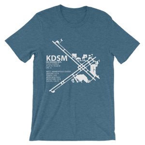 KDSM / DSM - Des Moines International - Unisex short sleeve t-shirt
