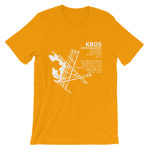 KBOS / BOS - Boston-Logan International - Unisex short sleeve t-shirt