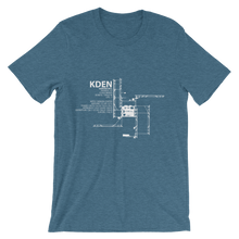 KDEN / DEN - Denver International - Unisex short sleeve t-shirt