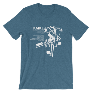 KMKE / MKE - General Mitchell International (Milwaukee) - Unisex short sleeve t-shirt