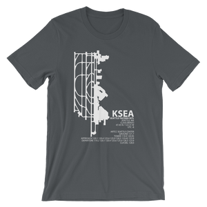 KSEA / SEA - Seattle-Tacoma International - Unisex short sleeve t-shirt