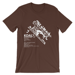 KDAL / DAL - Dallas Love Field - Unisex short sleeve t-shirt