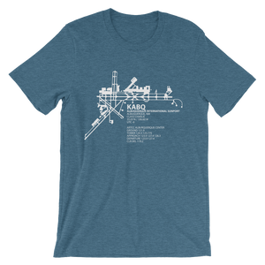 KABQ / ABQ - Albuquerque International - Unisex short sleeve t-shirt
