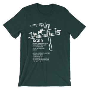 KGRR / GRR - Gerald R. Ford International (Grand Rapids) - Unisex short sleeve t-shirt