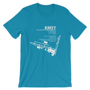 KMSY / MSY - Louis Armstrong New Orleans International - Unisex short sleeve t-shirt