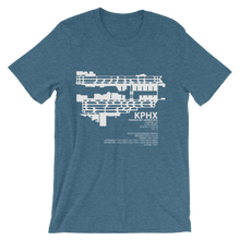 KPHX / PHX - Phoenix Sky Harbor - Unisex short sleeve t-shirt