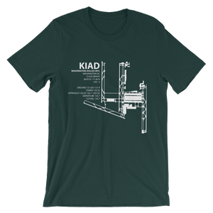 KIAD / IAD - Washington-Dulles International - Unisex short sleeve t-shirt