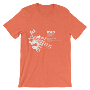 KSFO / SFO - San Francisco International - Unisex short sleeve t-shirt
