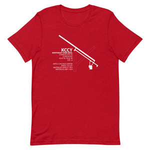 KCCY / CCY - Northeast Iowa Rgnl - Unisex short sleeve t-shirt