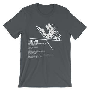 KBWI / BWI - Baltimore/Washington International - Unisex short sleeve t-shirt