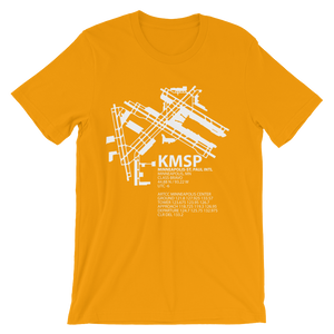 KMSP / MSP - Minneapolis-St. Paul International - Unisex short sleeve t-shirt